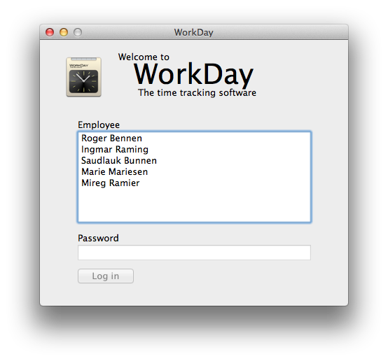 WorkDay screenshots